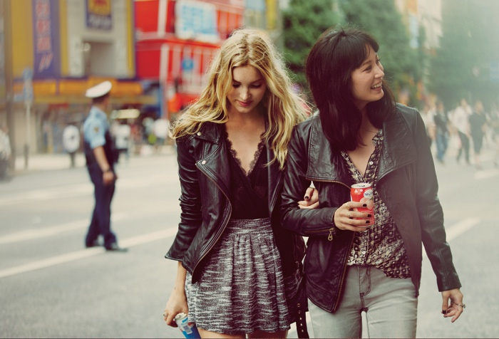japan fp6 Elsa Hosk & Eimi Kuroda Go to Tokyo for Free People October Catalog