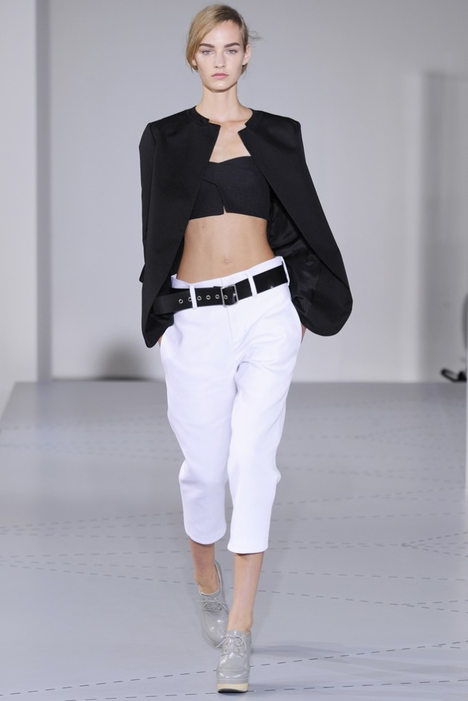 jil sander Milan Fashion Week Spring/Summer 2014 Day 4 Recap | Bottega Veneta, Jil Sander, Roberto Cavalli + More