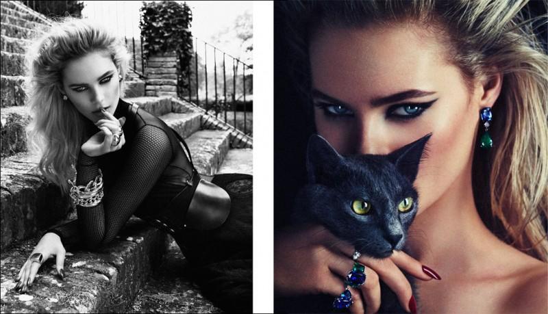 Juju Ivanyuk Turns Cat Lady for Xavi Gordo's Rabat Magazine Cover Story