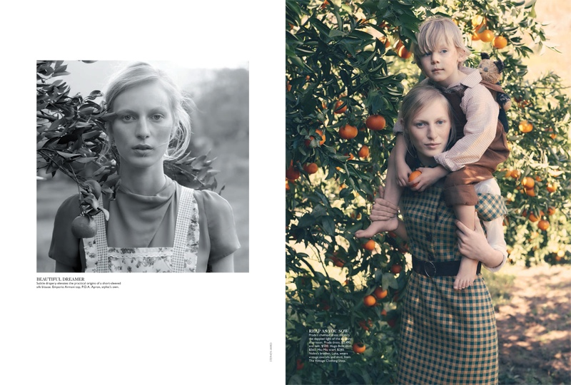 julia nobis stephen ward2 Julia Nobis is a Natural Beauty for Stephen Ward in Vogue Australia Shoot