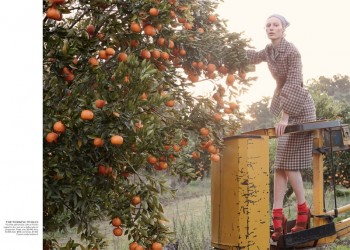Julia Nobis is a Natural Beauty for Stephen Ward in Vogue Australia Shoot