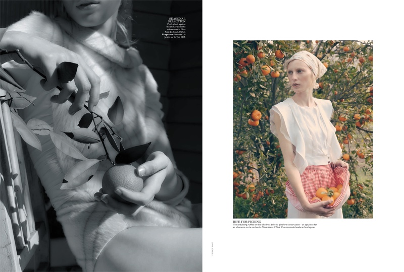 julia nobis stephen ward5 Julia Nobis is a Natural Beauty for Stephen Ward in Vogue Australia Shoot