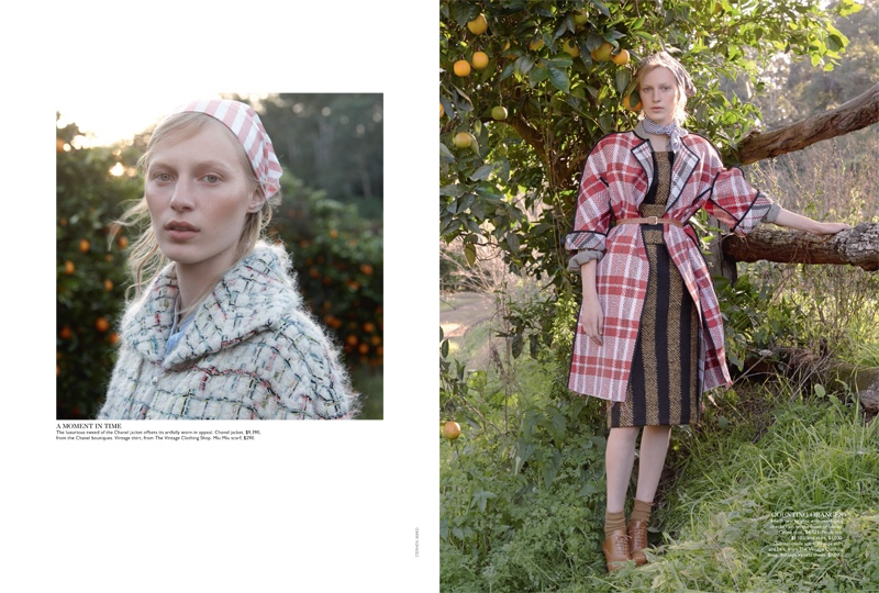 julia nobis stephen ward8 Julia Nobis is a Natural Beauty for Stephen Ward in Vogue Australia Shoot
