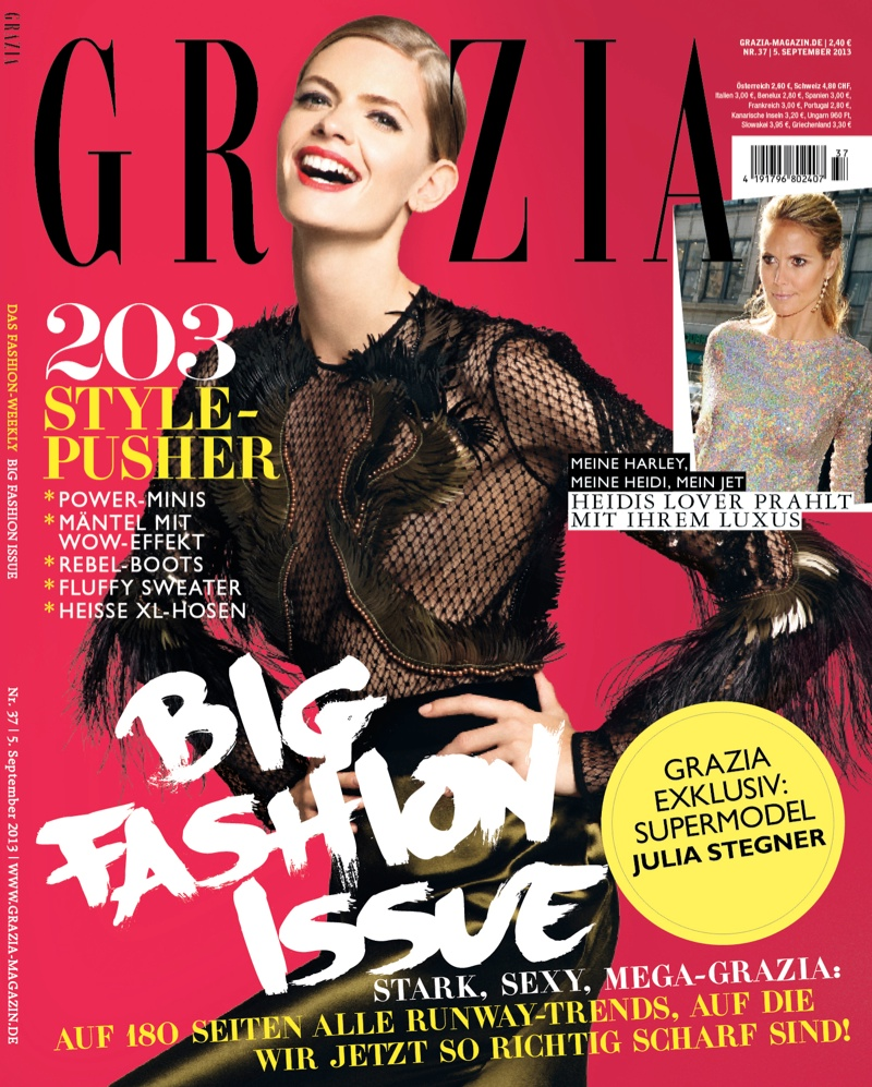 julia stegner shoot11 Julia Stegner Shines in the September Issue of Grazia Germany