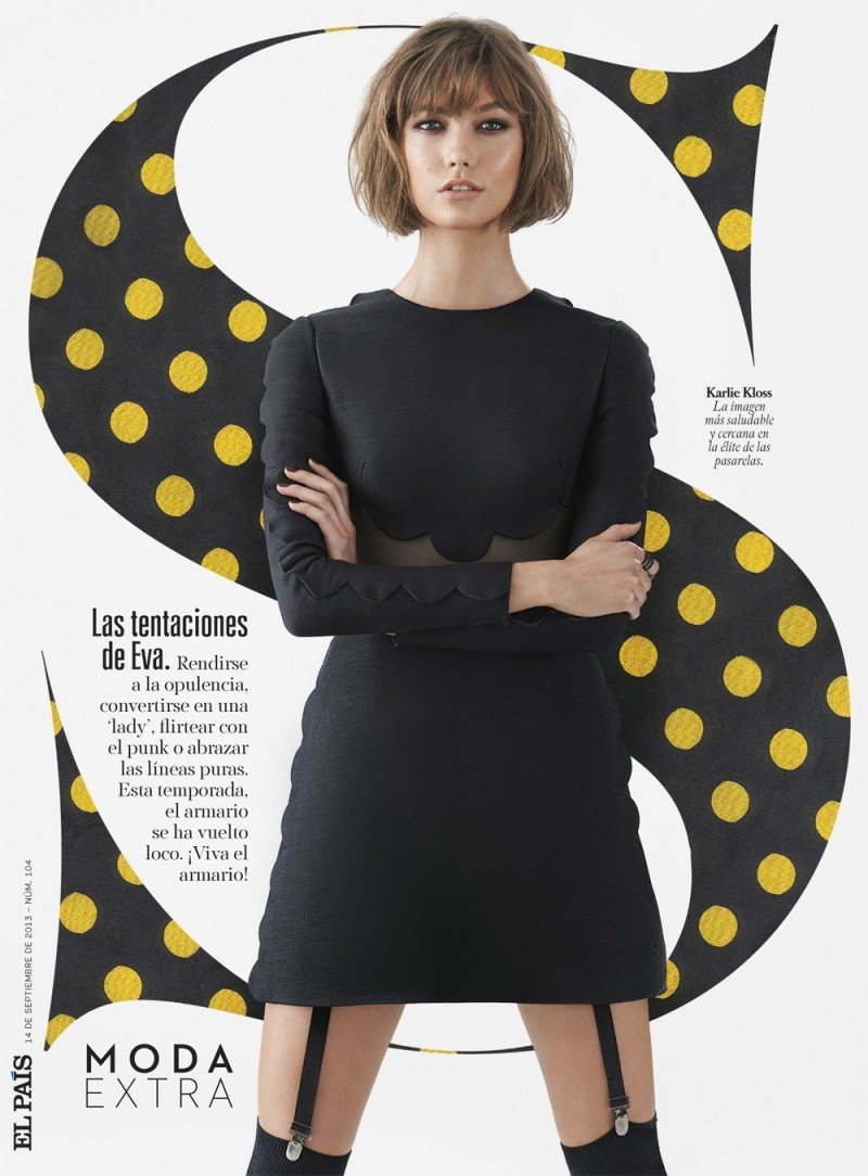 karlie shoot1 800x1084 Karlie Kloss Stars in S Moda Shoot by Eric Guillemain
