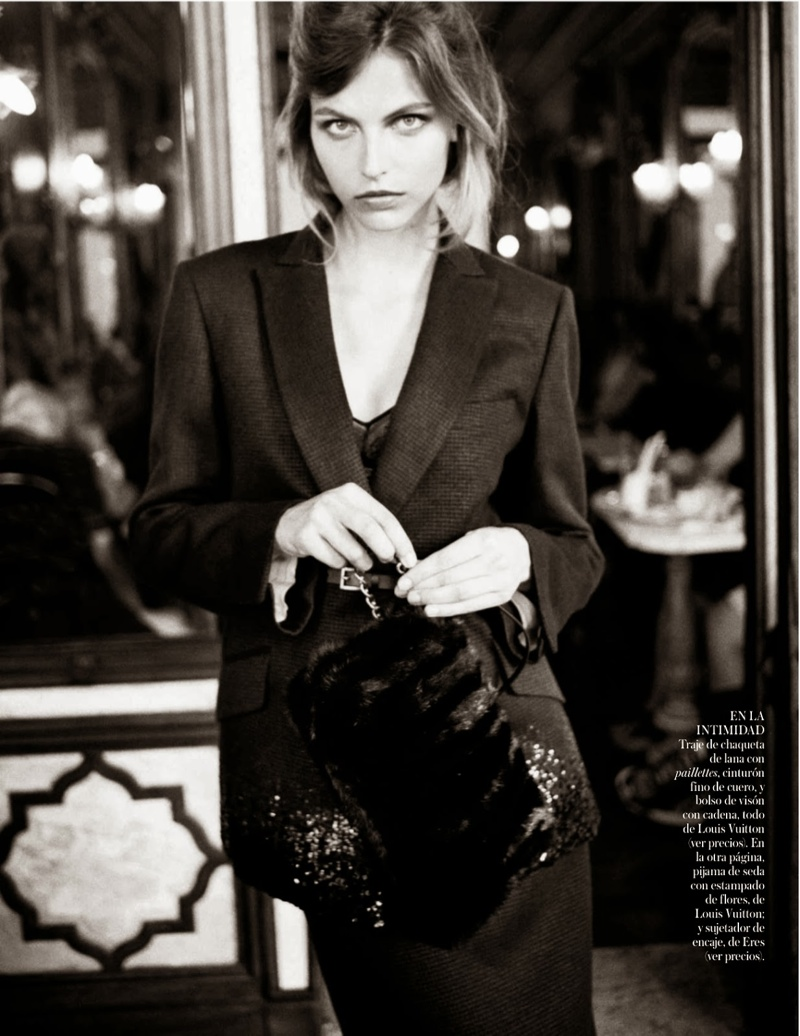 karlina caune shoot5 Karlina Caune Wears Louis Vuitton for Quentin de Briey in Vogue Spain Shoot