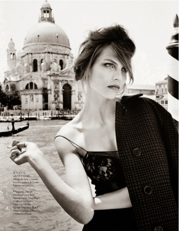 Karlina Caune Wears Louis Vuitton for Quentin de Briey in Vogue Spain Shoot