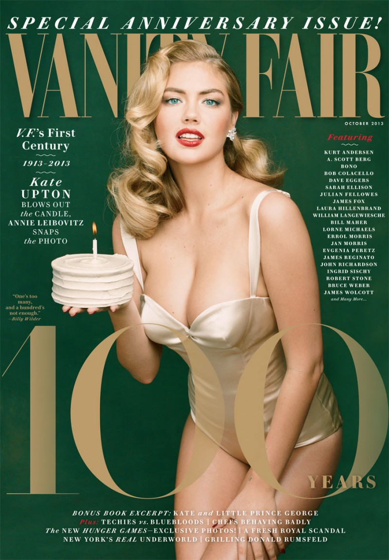 kate upton vanity fair cover 800x1149 Kate Upton Channels Marilyn Monroe for Vanity Fairs Anniversary Cover