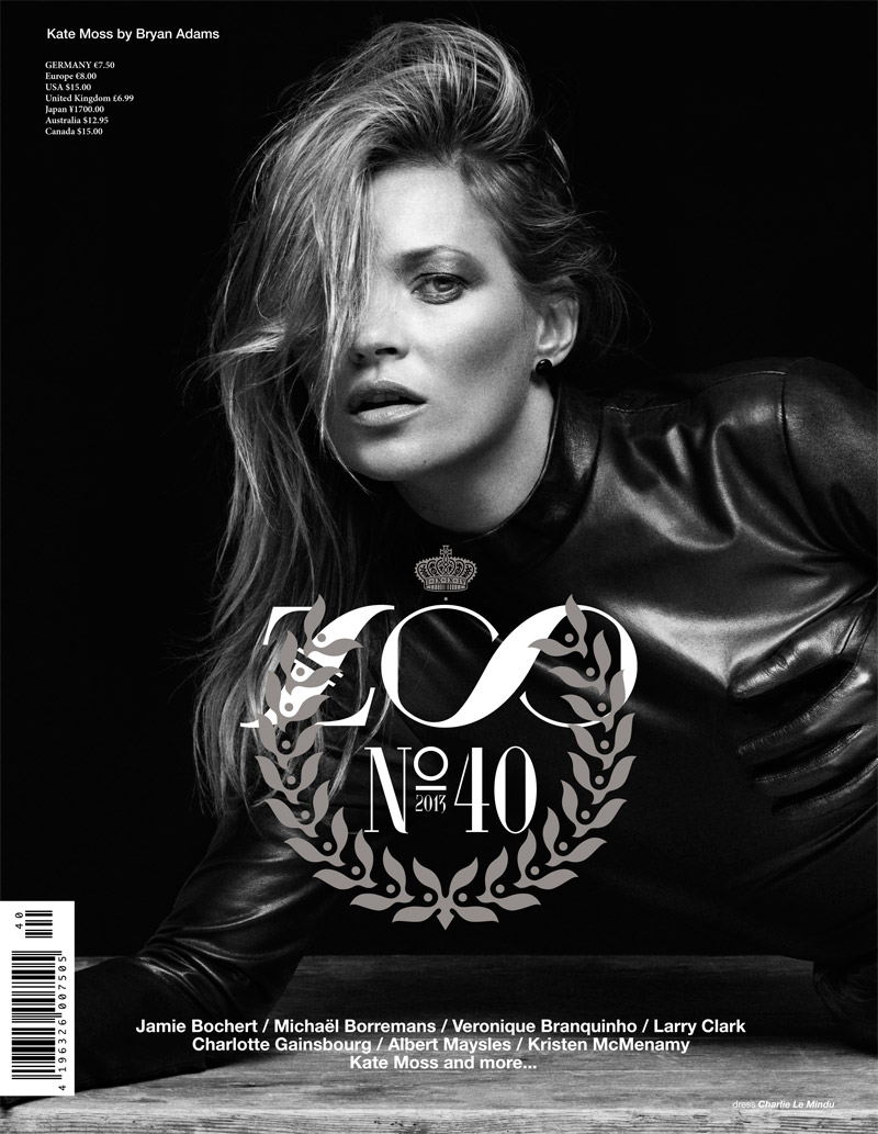 kate zoo cover Kate Moss, Kristen McMenamy, Jamie Bochert + Charlotte Gainsbourg Cover Zoo #40