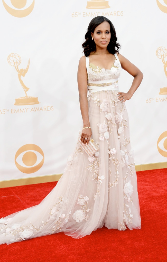 kerry washington marchesa Kerry Washington in Marchesa, Claire Danes in Armani + More EMMY Award Style