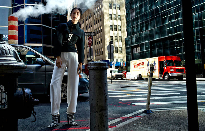 kwak ji young1 Kwak Ji Young Goes Downtown for Elle Taiwan Shoot by Zoltan Tombor