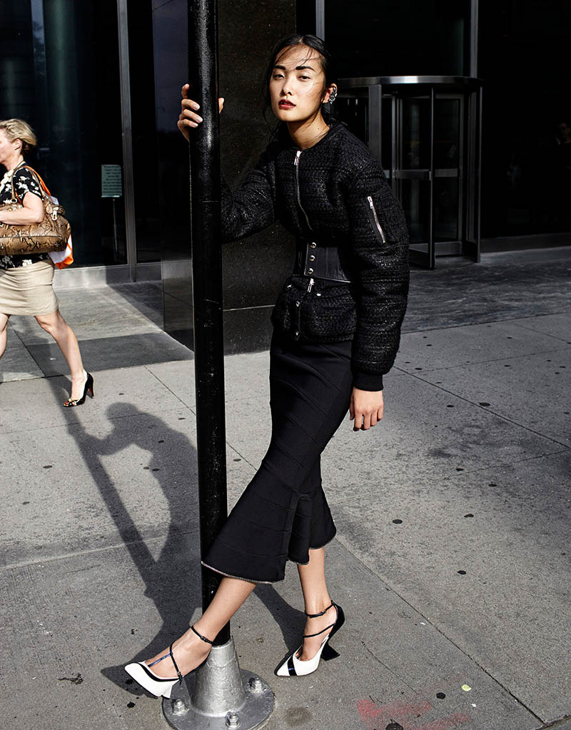 Kwak Ji Young Goes Downtown for Elle Taiwan Shoot by Zoltan Tombor