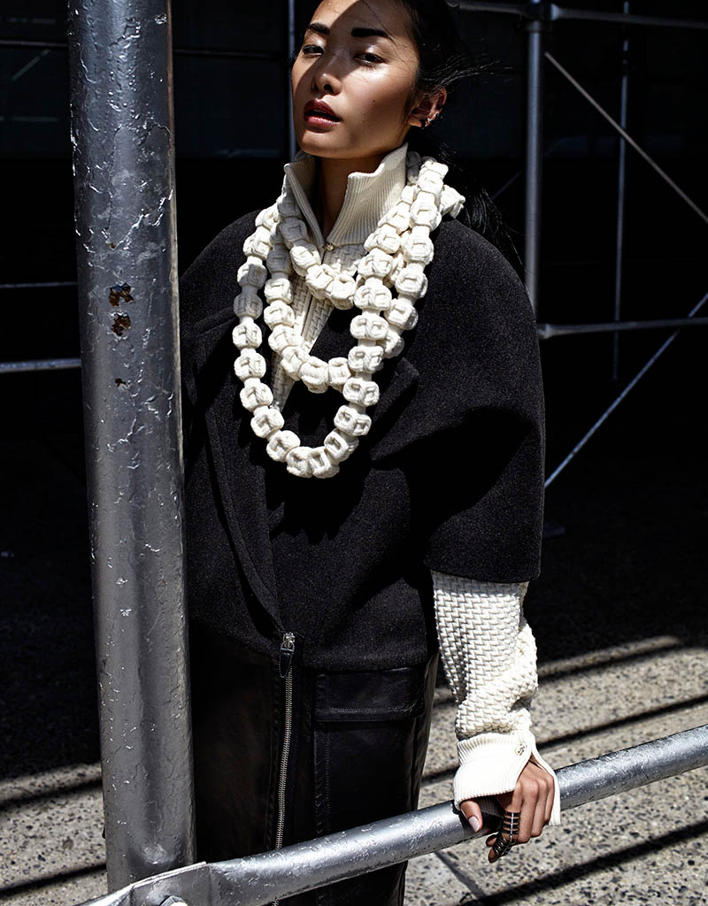 kwak ji young5 Kwak Ji Young Goes Downtown for Elle Taiwan Shoot by Zoltan Tombor