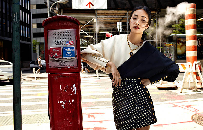 Kwak Ji Young Goes Downtown for Elle Taiwan Shoot by Zoltan Tombor