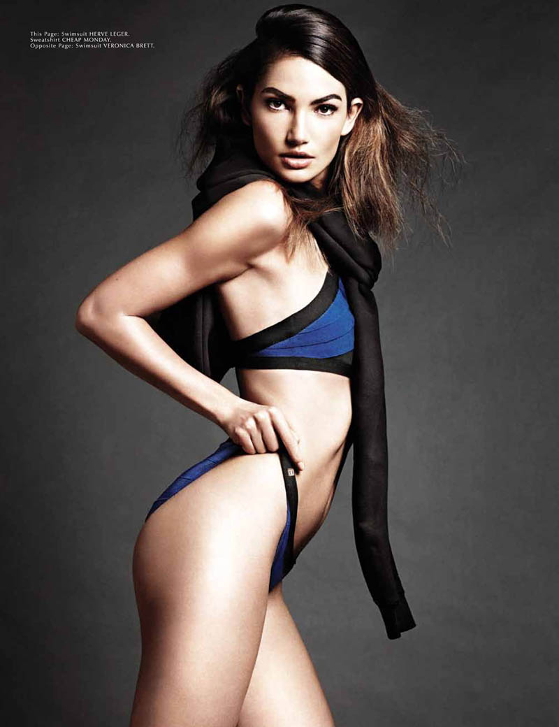 lily aldridge model7 Lily Aldridge Works It for Galore Magazine #4