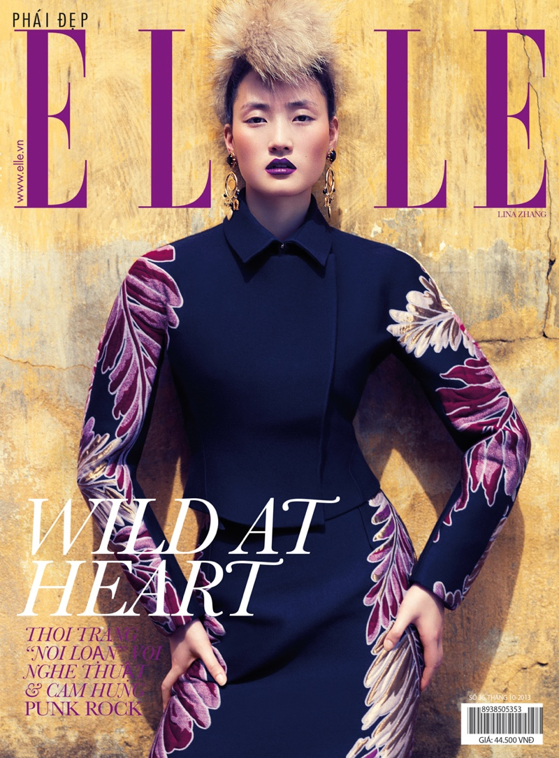 Lina Zhang Wears Luxe Style for Elle Vietnam Shoot by Stockton Johnson