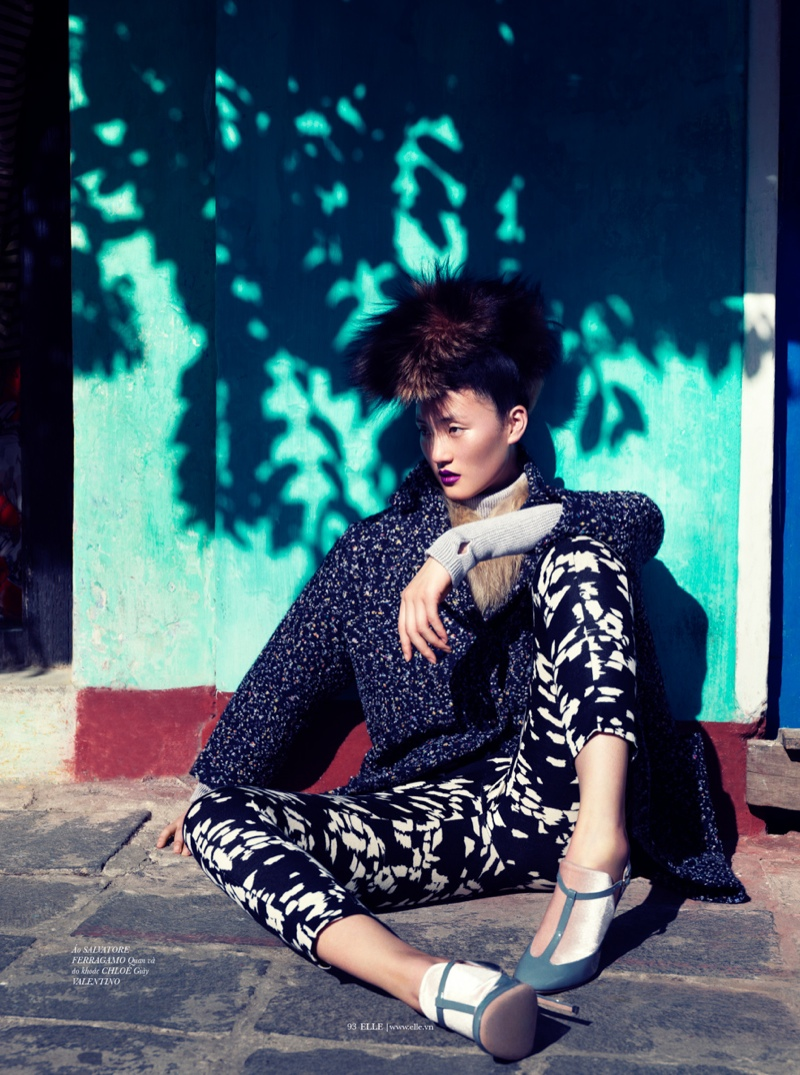lina zhang elle4 Lina Zhang Wears Luxe Style for Elle Vietnam Shoot by Stockton Johnson