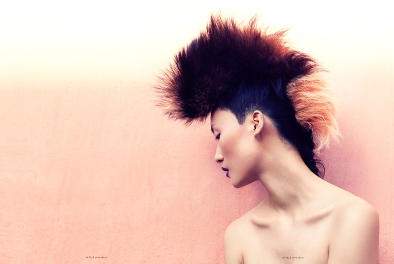 lina zhang elle5 Lina Zhang Wears Luxe Style for Elle Vietnam Shoot by Stockton Johnson