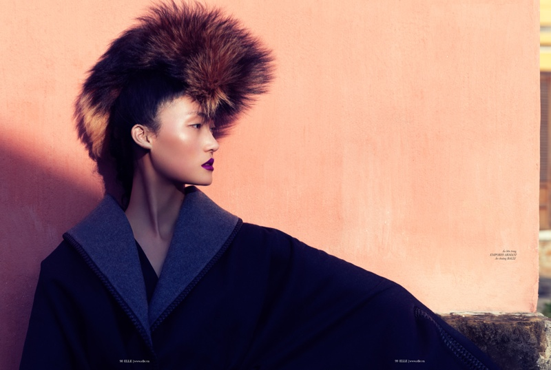 lina zhang elle8 Lina Zhang Wears Luxe Style for Elle Vietnam Shoot by Stockton Johnson
