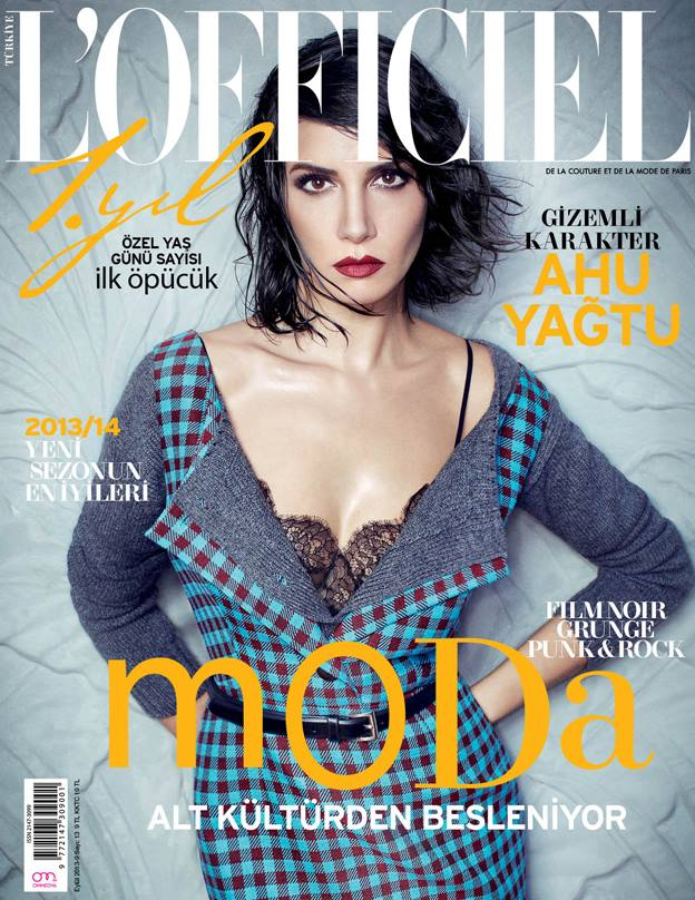 lofficiel cover Ahu Yagtu Graces LOfficiel Turkey September 2013 by Emre Dogru