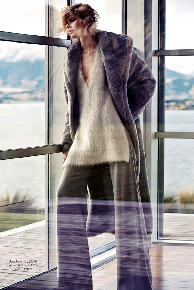 Lydia Willemina Collins Models Coats for SImon Upton in Harper's Bazaar Australia