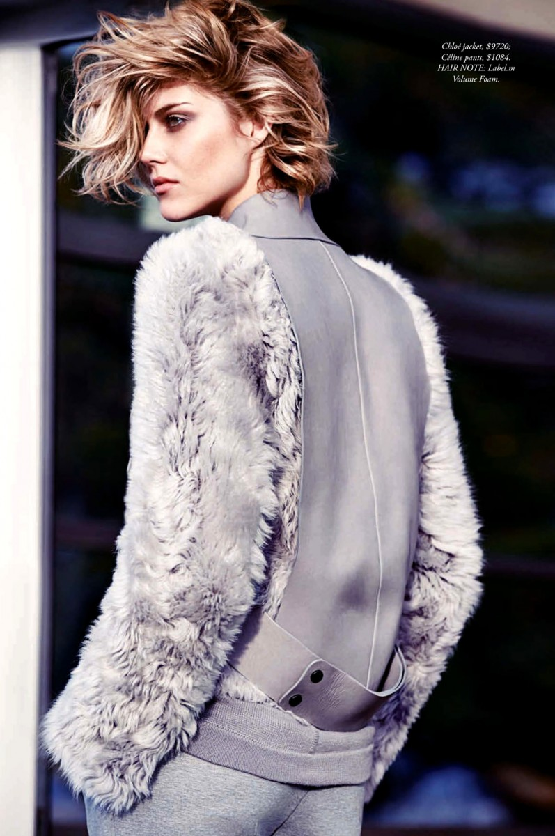 Lydia Willemina Collins Models Coats for SImon Upton in Harpers Bazaar Australia