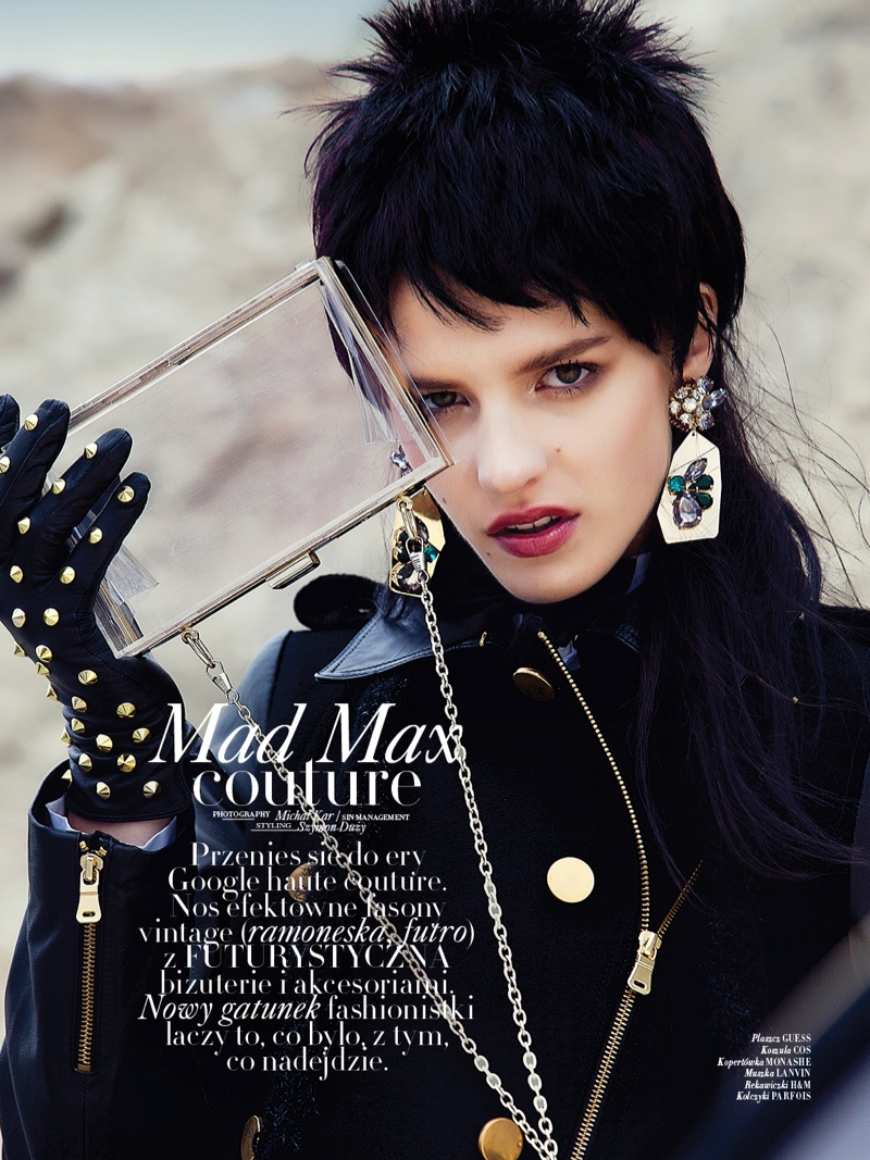 mad max couture1 Asia Piwka Dons Mad Max Couture for Glamour Poland by Michal Kar