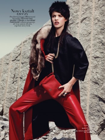 Asia Piwka Dons 'Mad Max Couture' for Glamour Poland by Michal Kar