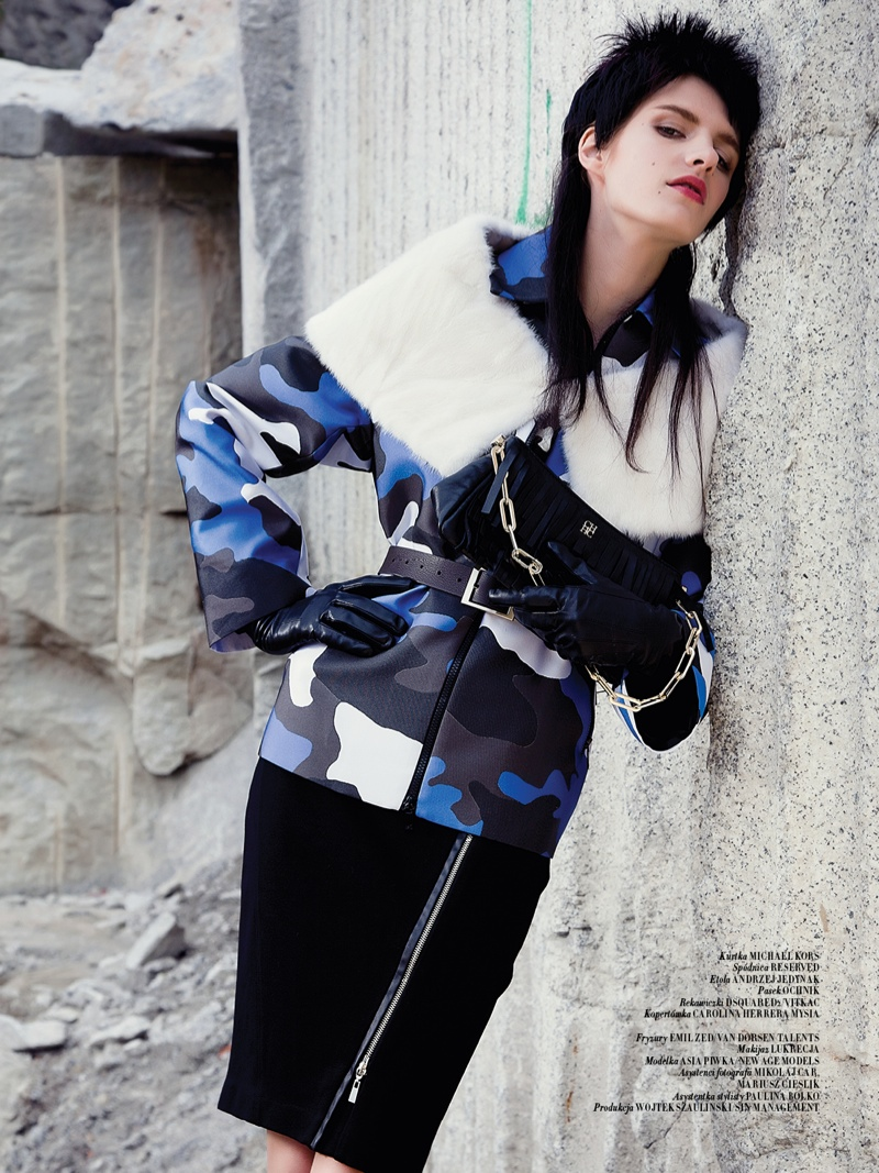 mad max couture8 Asia Piwka Dons Mad Max Couture for Glamour Poland by Michal Kar