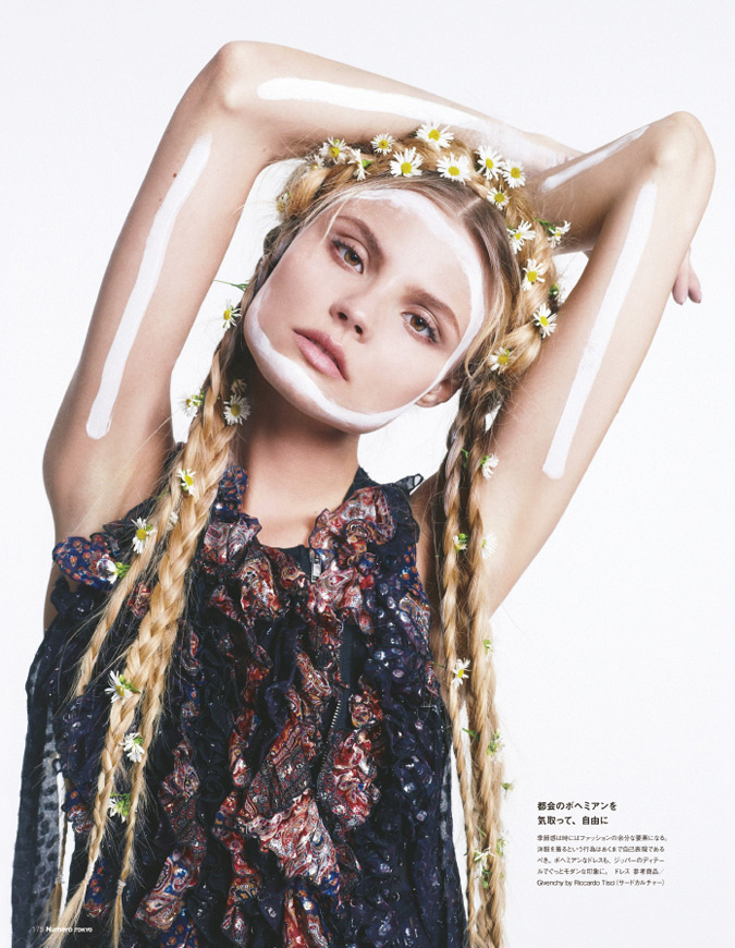 magdalena frackowiak model1 Magdalena Frackowiak Changes it Up for Numéro Tokyo by Sofia & Mauro