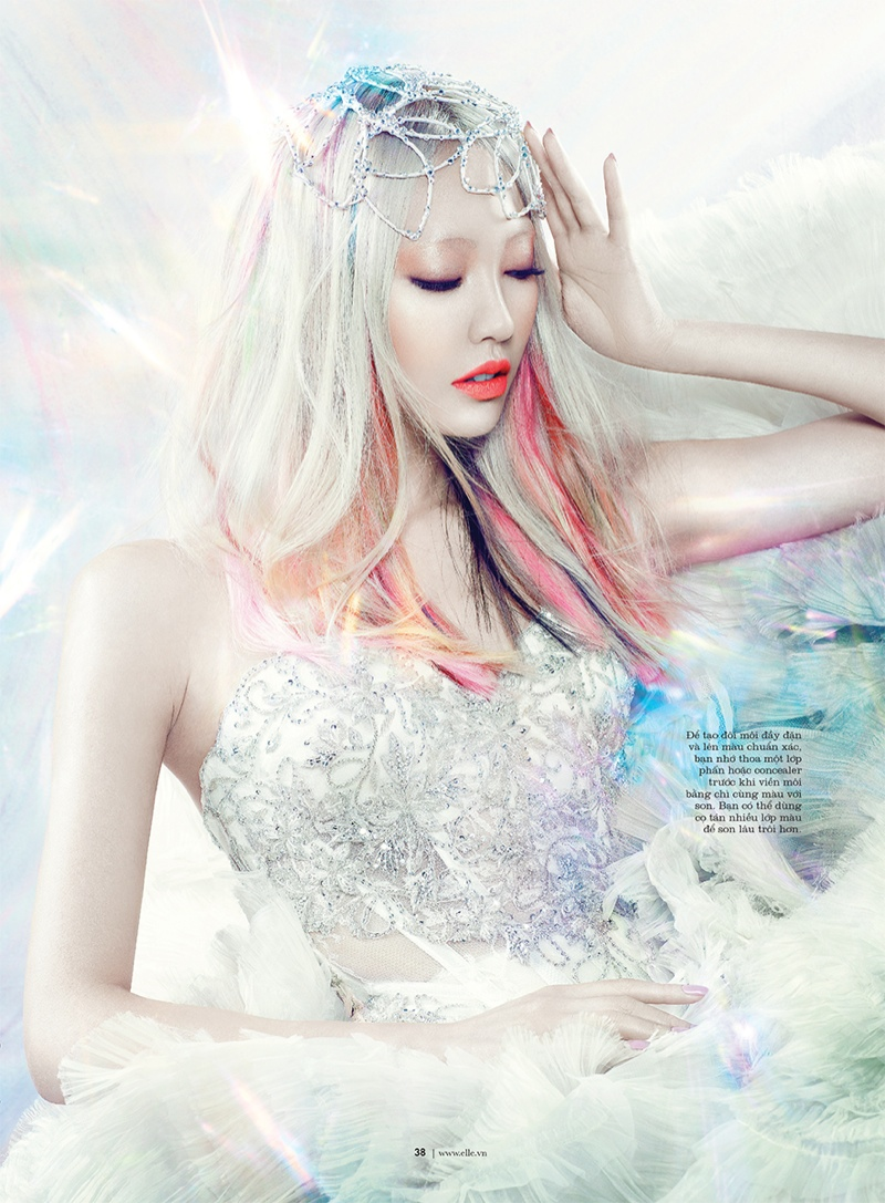 manga elle beauty3 Soo Joo is a Manga Beauty for Elle Vietnam October 2013
