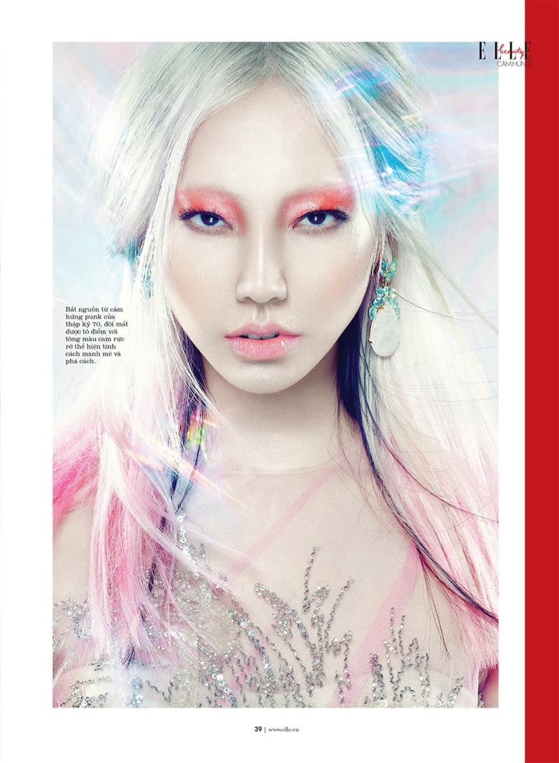 manga elle beauty4 Soo Joo is a Manga Beauty for Elle Vietnam October 2013