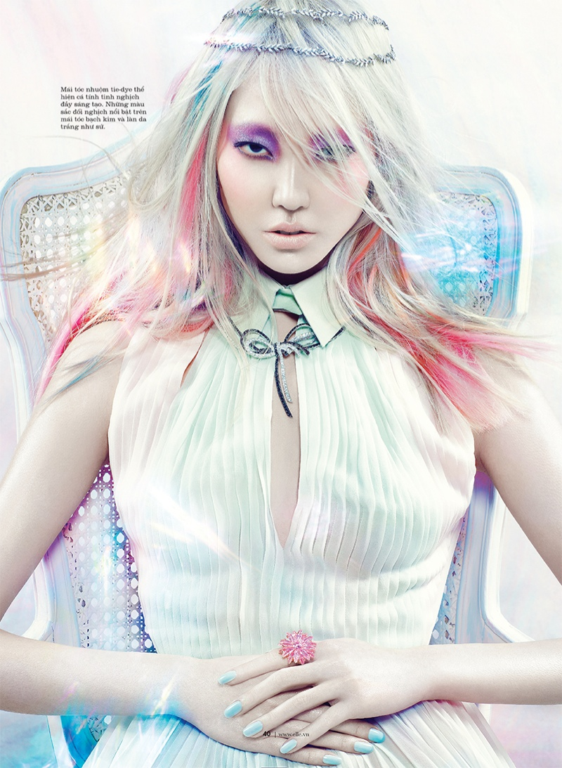 manga elle beauty5 Soo Joo is a Manga Beauty for Elle Vietnam October 2013