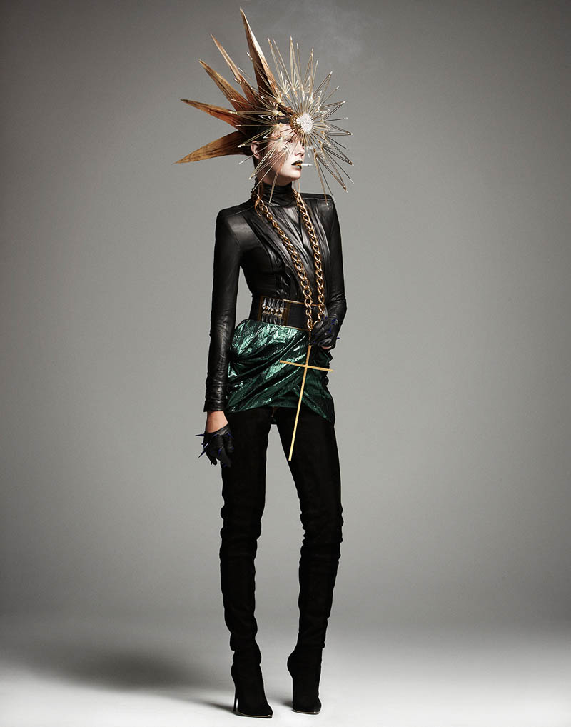 manolo campion punk1 Martha Streck Has Punk Attitude for V Magazine Shoot by Manolo Campion