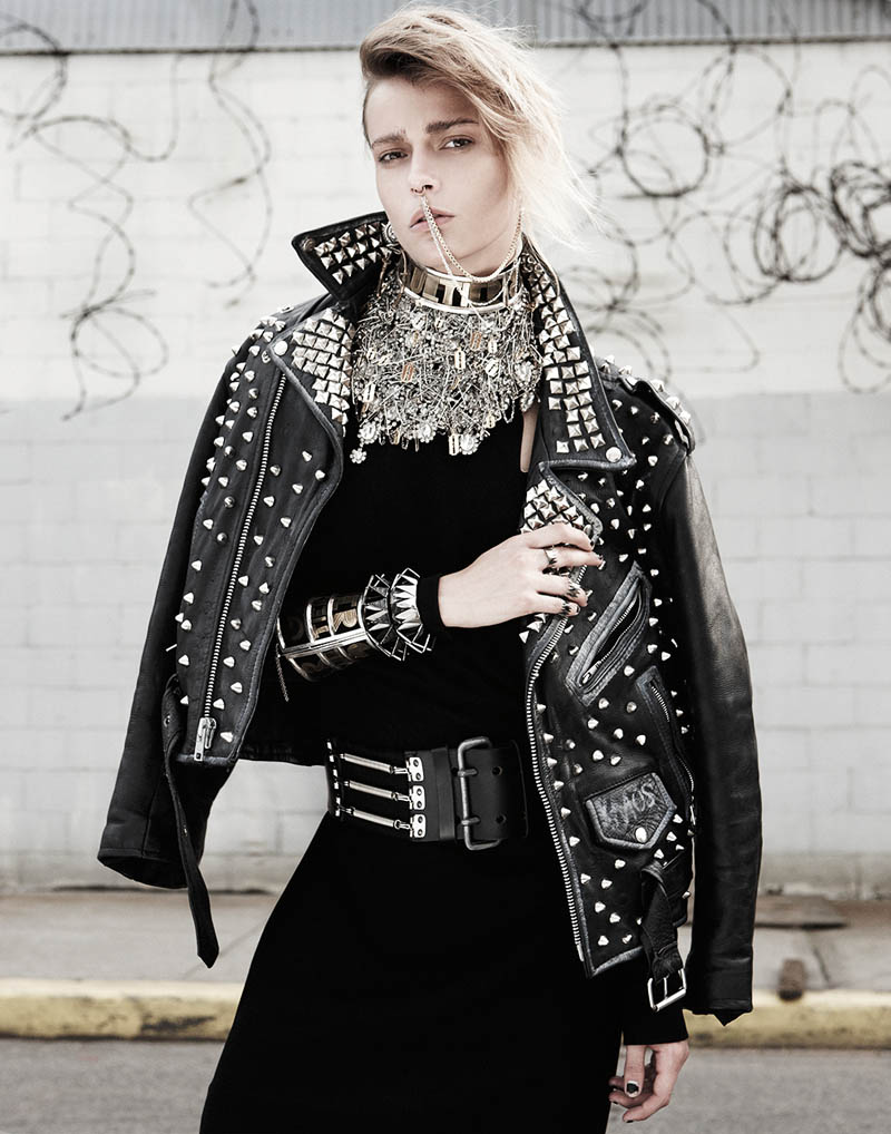 Martha Streck Has Punk Attitude for V Magazine Shoot by Manolo Campion