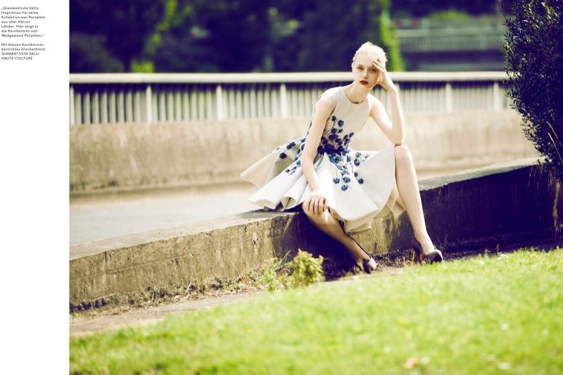 Nastya Kusakina Poses in Haute Couture for Markus Jans in Achtung Magazine