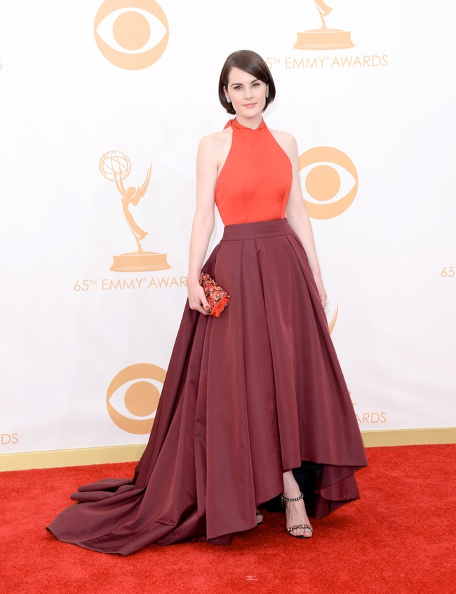 michelle dockery prada Kerry Washington in Marchesa, Claire Danes in Armani + More EMMY Award Style