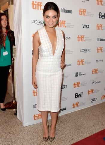 Mila Kunis Wears Burberry Prorsum at the Toronto International Film Festival