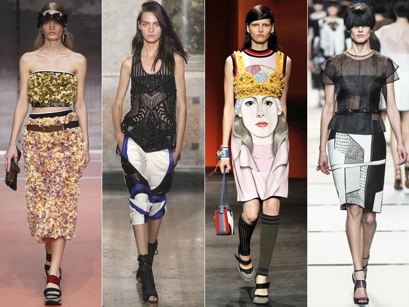 milan spring summer trends 5 Amazing Milan Fashion Week Spring/Summer 2014 Trends