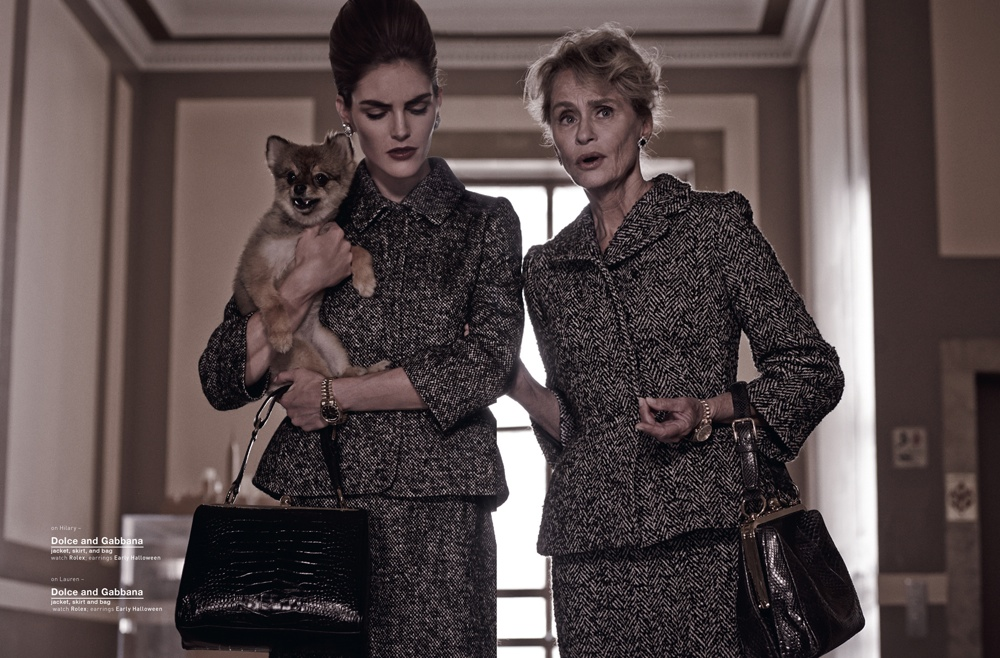 Hilary Rhoda & Lauren Hutton Are Americana for Muse by Mariano Vivanco