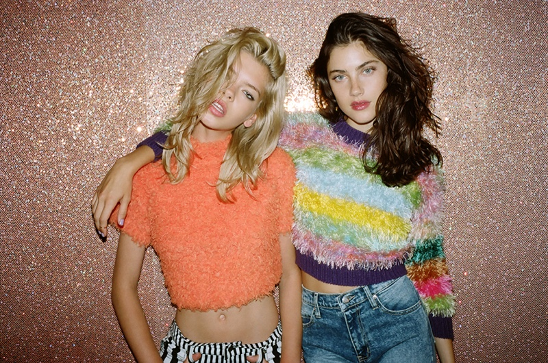 Anna & Valerija Hit the Road for Nasty Gal Shoot by Jason Lee Parry
