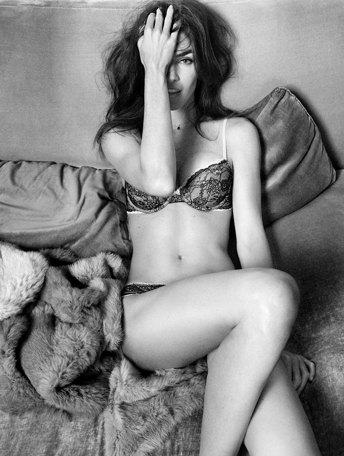 oysho lingerie hilary rhoda1 Hilary Rhoda Seduces for Oyshos Fall 2013 Lingerie Ads
