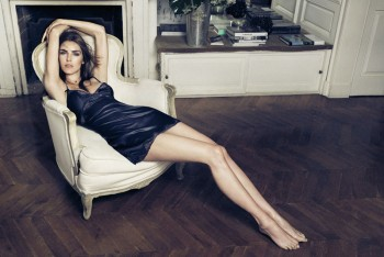Hilary Rhoda Seduces for Oysho's Fall 2013 Lingerie Ads
