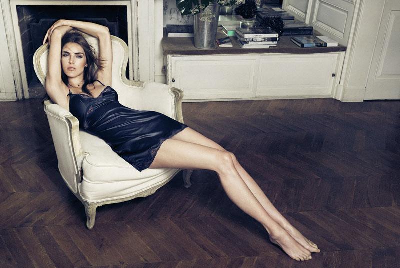 Hilary Rhoda Seduces for Oysho's Fall 2013 Lingerie Ads