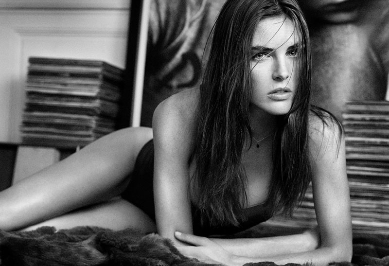 oysho lingerie hilary rhoda5 Hilary Rhoda Seduces for Oyshos Fall 2013 Lingerie Ads