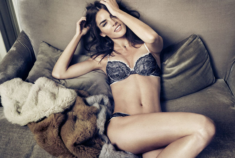 oysho lingerie hilary rhoda6 Hilary Rhoda Seduces for Oyshos Fall 2013 Lingerie Ads