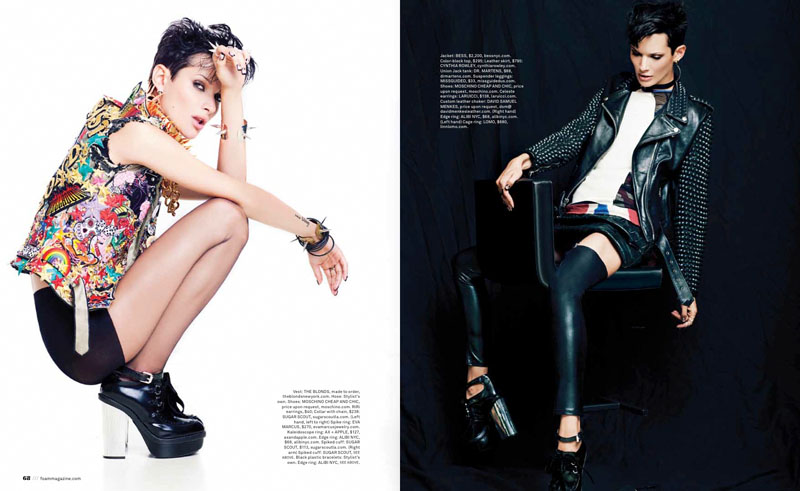 """Alina is """"Pretty in Punk"""" for Foam's September/October 2013 Issue"""