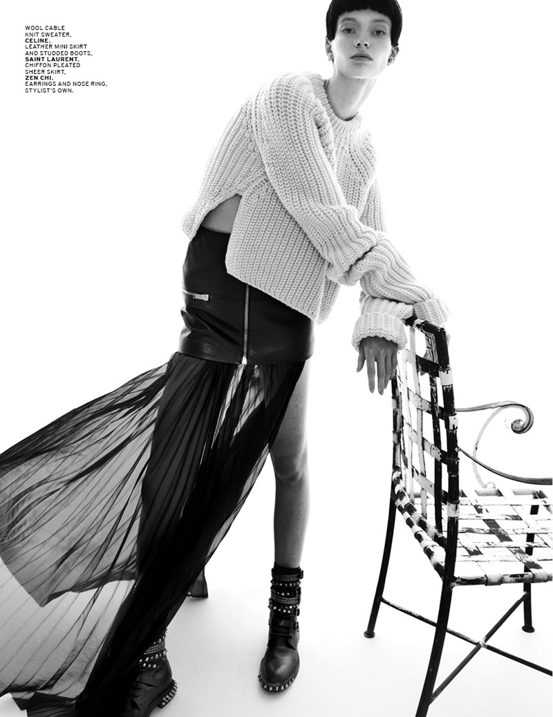 pretty rebel5 Helena Greyhorse Gets Rebellious for LOfficiel Singapore