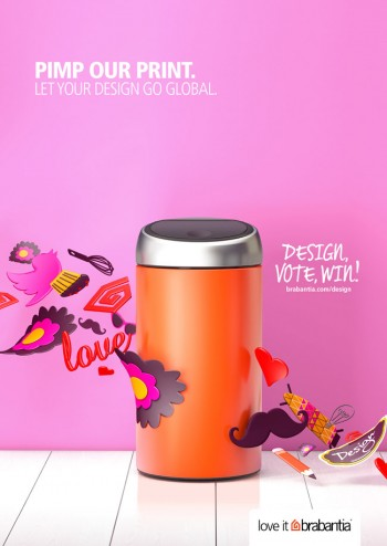 "Win a Chance to Have Your Design Featured with Brabantia's ""Pimp Our Print"" Contest"