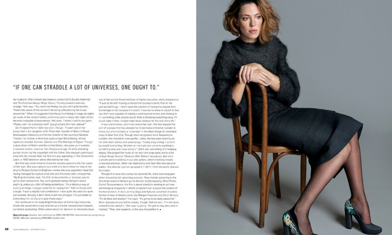 rebecca hall4 800x479 Rebecca Hall Charms in Scene Magazine September 2013 by An Le